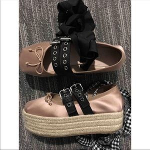 f1c0c6ecc768 Miu Miu Shoes - Miu Miu ballerina platform shoes authentic